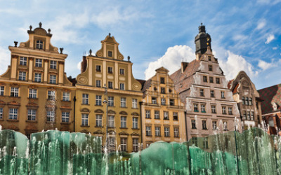 Wroclaw, fountain at the town square Mini